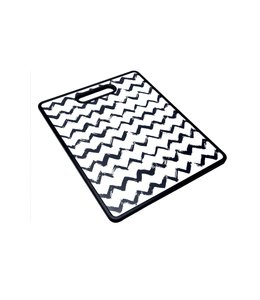 "A LA CUISINE BLACK AND WHITE CUTTING BOARD 11X14"" (MP12)"