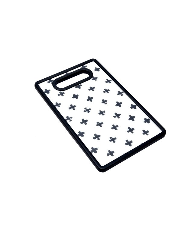 "A LA CUISINE BLACK AND WHITE CUTTING BOARD 6X10"" (MP24)"