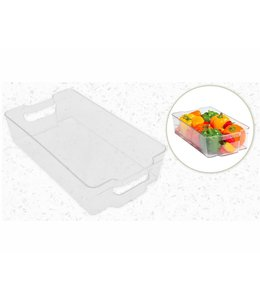 "A LA CUISINE FRIDGE ORGANIZER STORAGE BIN CLEAR 15X9X4"" (MP8)"