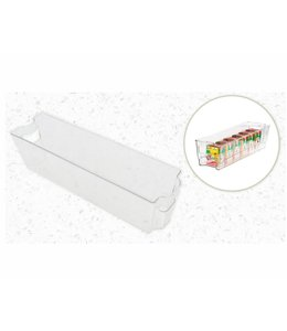 "A LA CUISINE FRIDGE ORGANIZER STORAGE BIN CLEAR 15X4X4"" (MP8)"