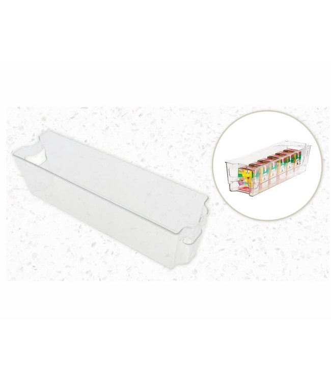 "A LA CUISINE *FRIDGE ORGANIZER STORAGE BIN CLEAR 15X4X4"" (MP8)"