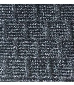 LAUREN TAYLOR GRIFFIN TEXTURED DOOR MAT 2X3' CHARCOAL (MP125)