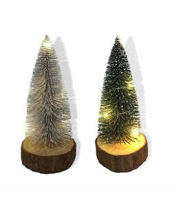 "LAUREN TAYLOR CHRISTMAS LED TINSEL TREE 8"" (MP12)"