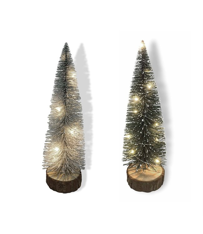 "LAUREN TAYLOR CHRISTMAS LED TINSEL TREE 12"" (MP12)"
