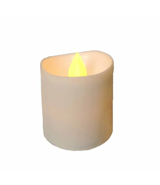 LAUREN TAYLOR 6PK LED VOTIVE CANDLES WHITE (MP36)