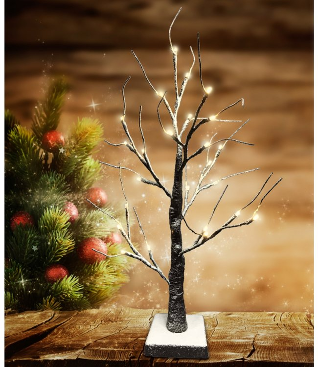 "LAUREN TAYLOR LED 24LT CHRISTMAS SNOWY TREE 23"" (MP8)"