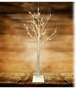 "LAUREN TAYLOR LED 48LT WHITE GLITTER TREE 47"" (MP6)"