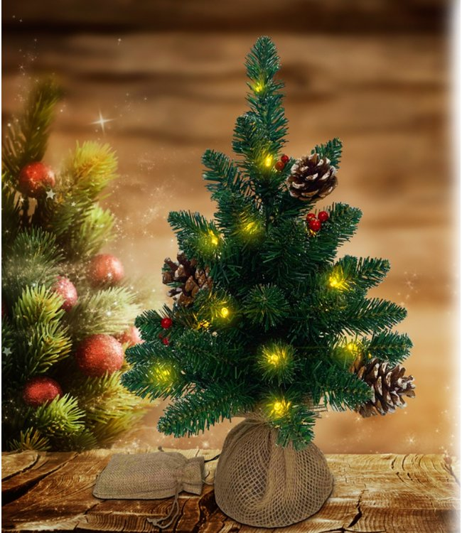 "LAUREN TAYLOR LED PINE TREE w/PINE CONE 18"" (MP6)"