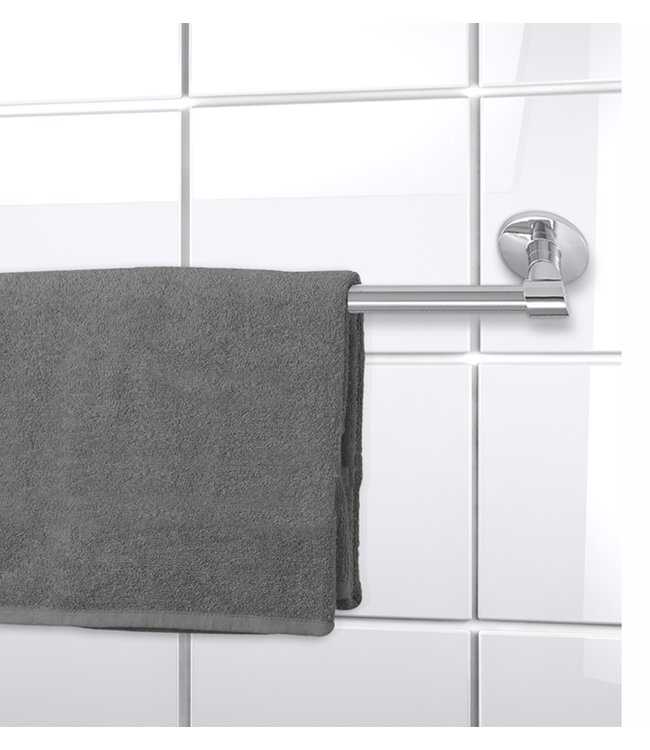 """LAUREN TAYLOR ROUND STAINLESS STEEL WALL MOUNTED TOWEL BAR 19"""" (MP6)"""