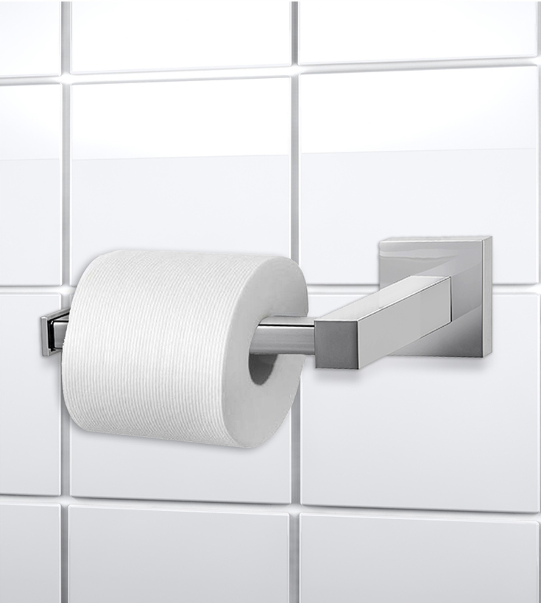 Lauren Taylor Square Stainless Steel Wall Mounted Toilet Paper Holder 6x3x3 Mp10 Oxford Mills Home Fashion Factory Outlet And Beddington S Bed Bath