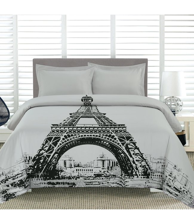 ADRIEN LEWIS *PARIS DUVET COVER SET GREY (MP2)