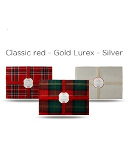 "2PK LINEN w/SILVER LUREX PLACEMATS 13X19"" (MP6)"