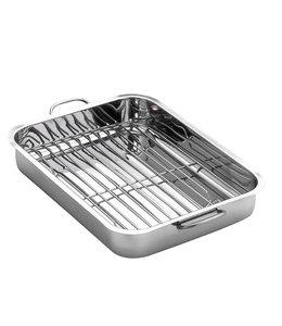 """ROASTING PAN w/STAINLESS STEEL RACK 15.75""""  (MP6)"""