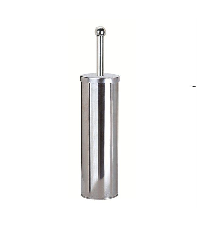 "LAUREN TAYLOR TOILET BRUSH STAINLESS STEEL 4X14.5""  (MP12)"