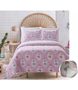 mari & mac BALLERINA 2PC QUILT SET (MP2) TWIN