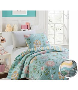 mari & mac MARGARITA BLOSSOMS 3PC QUILT SET (MP2) DOUBLE/QUEEN