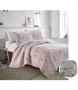mari & mac CHICKADEES 3PC QUILT SET (MP2) DOUBLE/QUEEN
