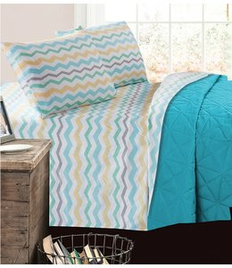 mari & mac MARGARITA BLOSSOMS MICRO FIBER PRINTED AST SHEET SET (MP4) DOUBLE