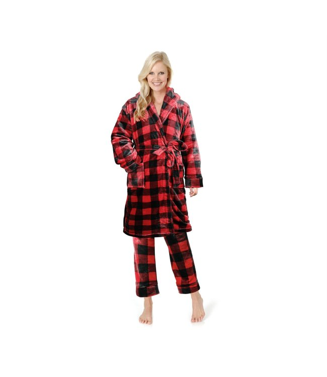 BUFFALO PLAID LADIES PYJAMA PANTS RED/BLACK