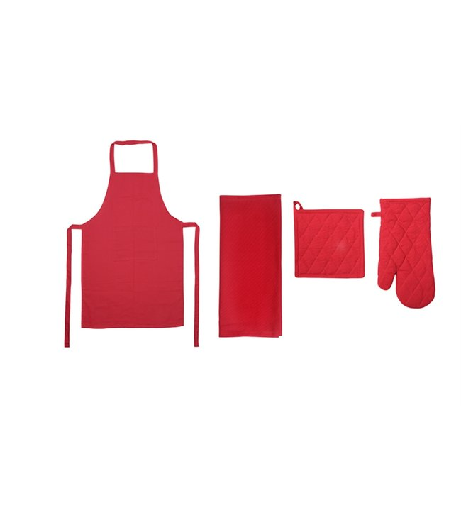MASSIMO HENRY SOLID COTTON 4PCS KITCHEN SET (MP10)