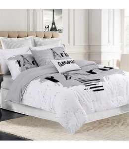 LAUREN TAYLOR *PARIS SKETCH COMFORTER SET GREY (MP2)