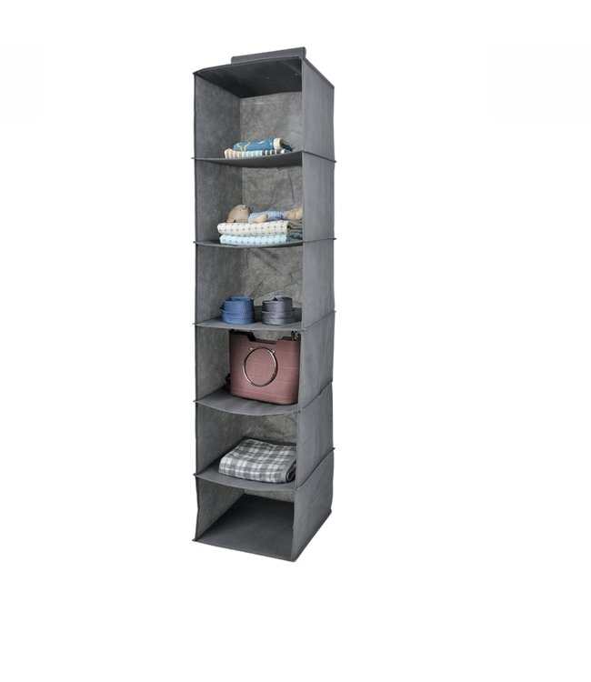 "ADRIEN LEWIS *6 SHELF HANGING ORGANIZER 12X12X50"" (MP24)"