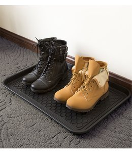 "LAUREN TAYLOR PLASTIC BOOT TRAY 30X15"" BLACK (MP24)"