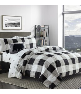 ADRIEN LEWIS COZY CHALET 8PC COMFORTER SET BLACK/WHITE (MP2)