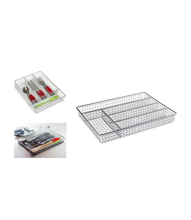 "A LA CUISINE WIRE CUTLERY HOLDER/ORGANIZER 14X10.25X2"" (MP6)"
