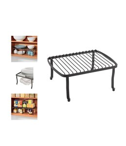 "A LA CUISINE VINTAGE PANTRY/COUNTER ORGANIZER 12X9.65X5.71"" (MP12) BLACK"