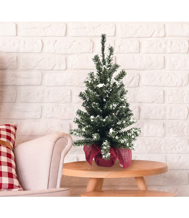 "MINI CHRISTMAS TREE w/RED LINEN BASE 24"" (MP8)"