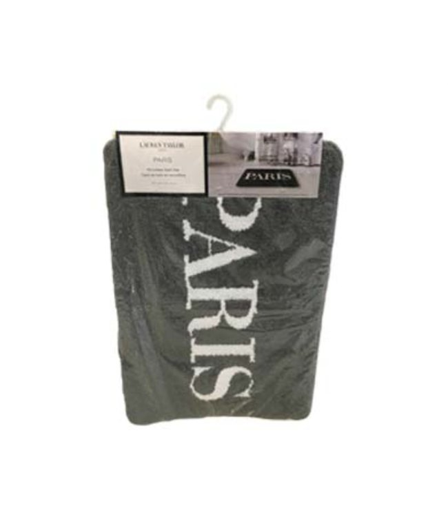 PARIS BATH MAT GREY 20X30 (MP12)