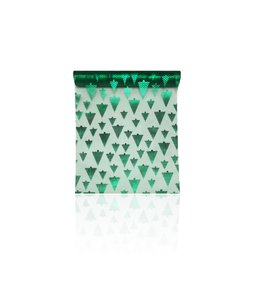 TABLE RUNNER CHRISTMAS TREES FOIL GREEN (MP12)