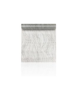 TABLE RUNNER SERPENTINS GLITTER SILVER (MP12)