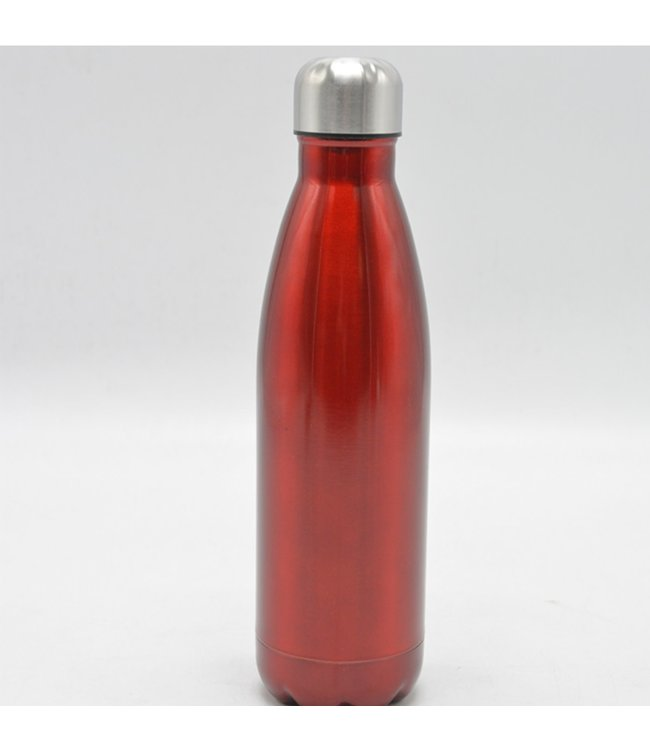 LAUREN TAYLOR STAINLESS STEEL WATER BOTTLE 500ml SOLID (MP12)