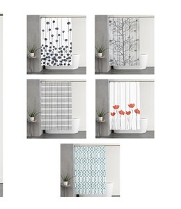 SARAH COLLECTION MF SHOWER CURTAIN AST (MP12)