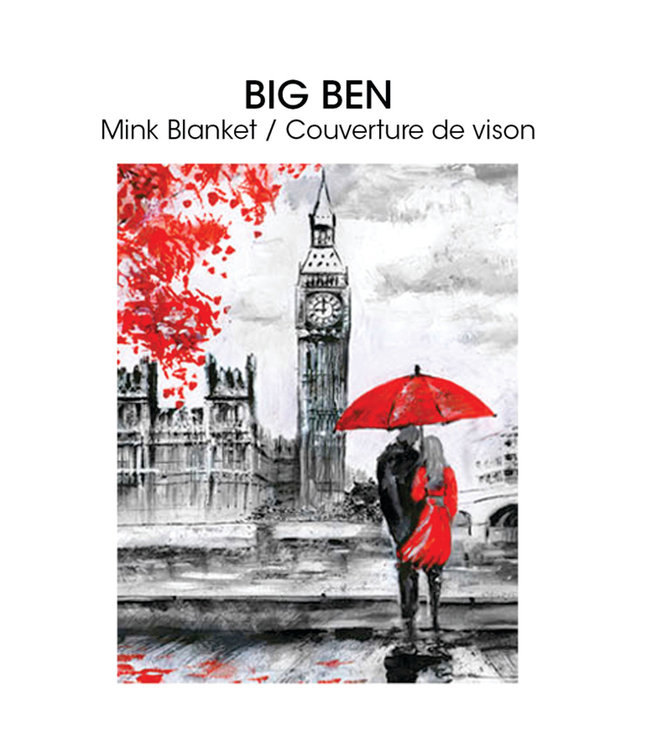 "LAUREN TAYLOR MICRO MINK BLANKET 78X94"" (MP3) *BIG BEN"