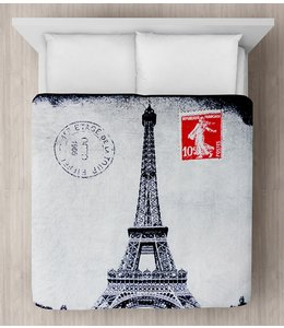 "LAUREN TAYLOR MICRO MINK BLANKET 78X94"" (MP3) *EIFFEL TOWER"