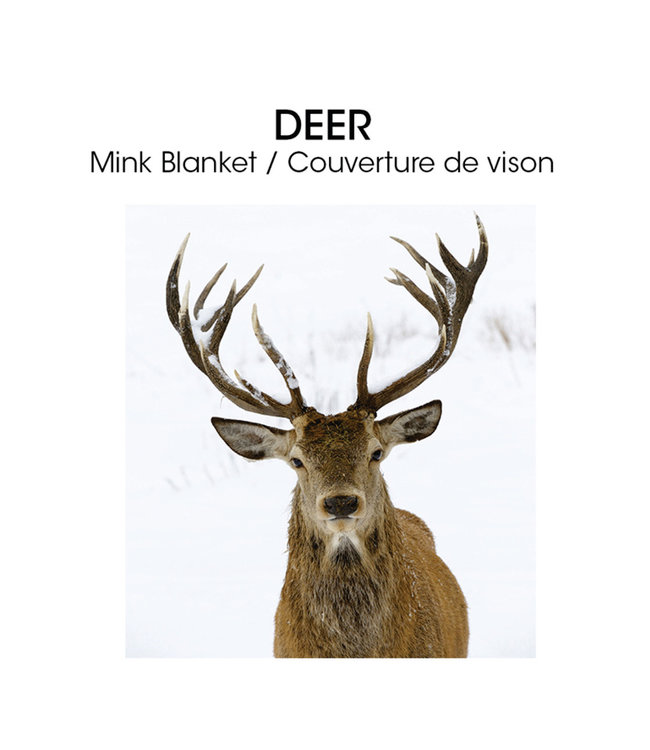 "LAUREN TAYLOR MICRO MINK BLANKET 78X94"" (MP3) *DEER"
