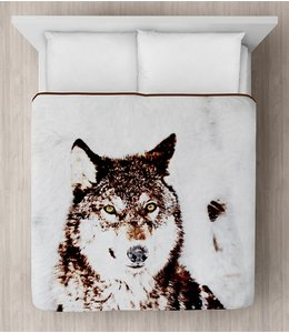 "LAUREN TAYLOR MICRO MINK BLANKET 78X94"" (MP3) TIMBER WOLF"