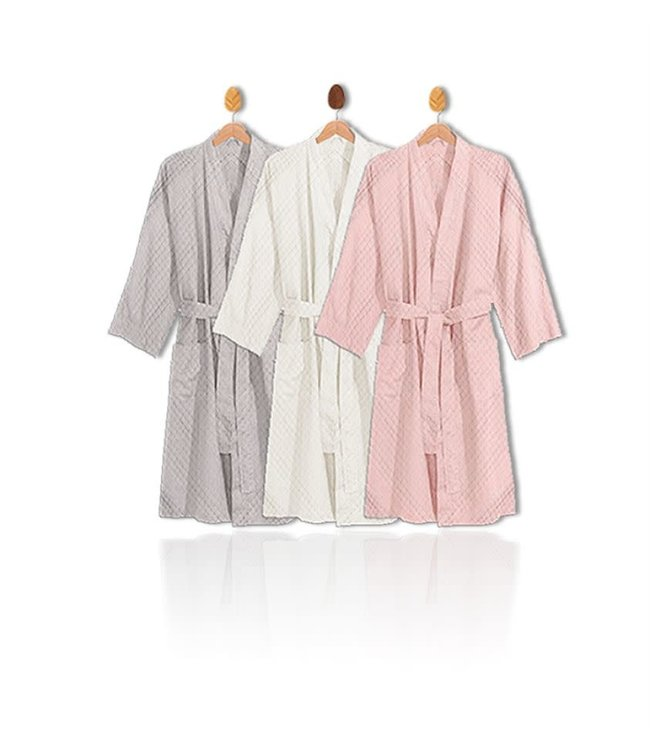"CLAUDIA DIMPLED FLEECE BATHROBE 39"" LENGTH (MP6)"