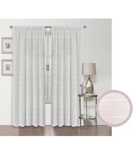 LAUREN TAYLOR *AVA 4PK SEMI-SHEER POLE TOP WINDOW PANEL WHITE (MP12) 52X84""