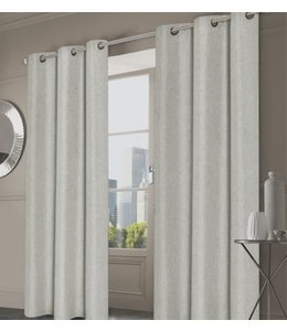 LAUREN TAYLOR MORRIS 2PK FAUX LINEN GROMMET WINDOW PANELS (MP6)