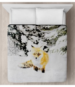 "LAUREN TAYLOR MICRO MINK BLANKET 78X94"" (MP3) *SNOW FOX"