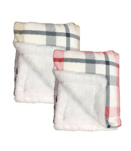 "LAUREN TAYLOR BELLEVUE PLAID FLEECE REVERSE TO SHERPA THROW AST 50X60"" (MP6)"