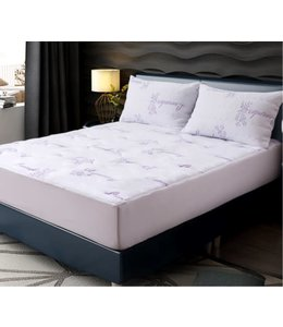 W HOME LAVENDER SCENTED WATERPROOF MATTRESS PROTECTOR WHITE (MP6)