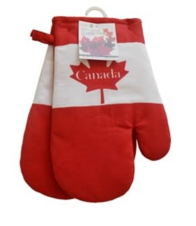 CANADA OVEN MITT/PAIR RED (MP24)