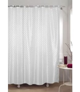 DIAMOND SHOWER CURTAIN WHITE