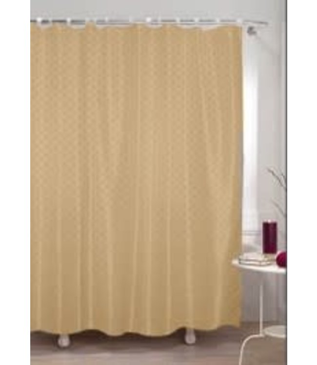 DIAMOND SHOWER CURTAIN TAUPE