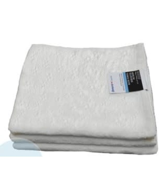 "JACQUARD WHITE TOWELS BATH TOWEL 22X47"" (MP48)"
